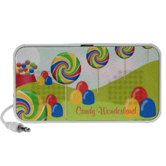 Candy wonderland fantasy rainbow lollipop gumdrops speaker