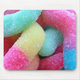 Candy worms mouse mat