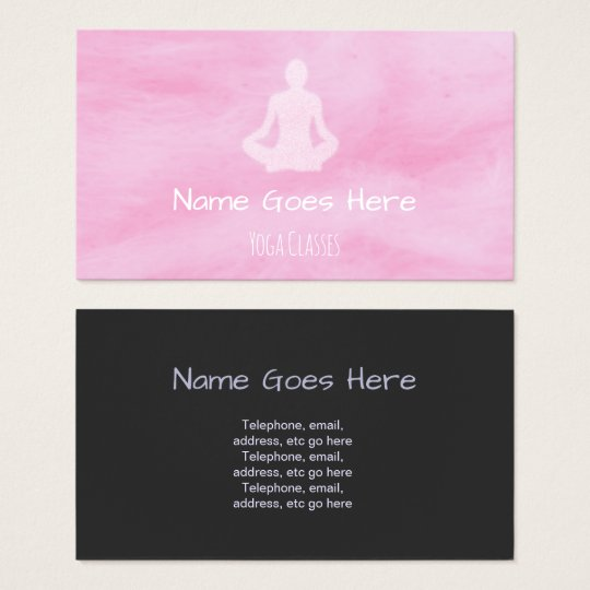 """Candy"" Yoga Business Cards"