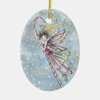 Candycane Fairy Christmas Ornament