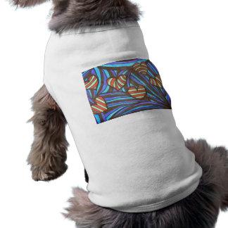 CandyCane Hearts Sleeveless Dog Shirt