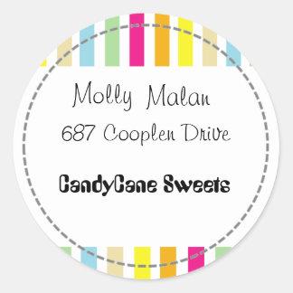 CandyCane Loop Classic Round Sticker