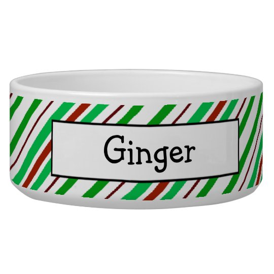 Candycane Peppermint Personalised Pet Bowls