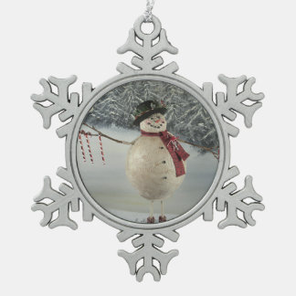 Candycanes For Sale Snowflake Pewter Christmas Ornament