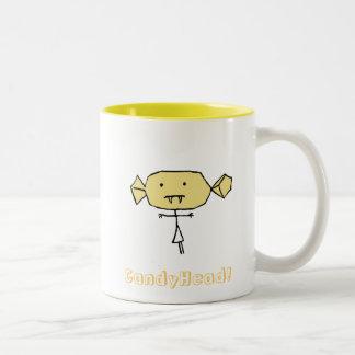 CandyHead bitey Mug Yellow