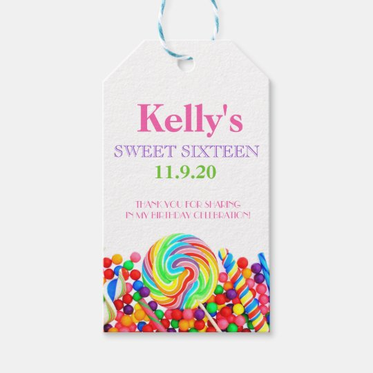 Candyland Candy Theme Sweet 16 Favour | Gift