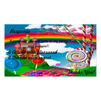 Candyland Response-Teenage Double-Sided Standard Business Cards (Pack Of 100)