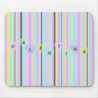 candystripe mouse pad