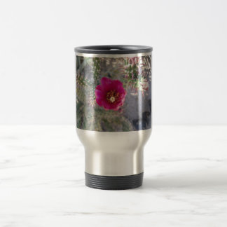 Cane Cholla Flower Purple Travel Mug
