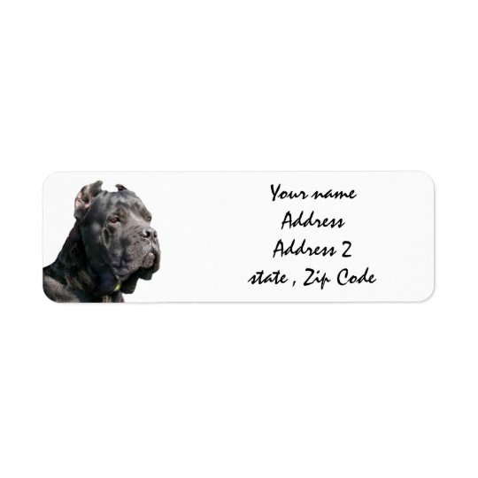Cane corso address labels