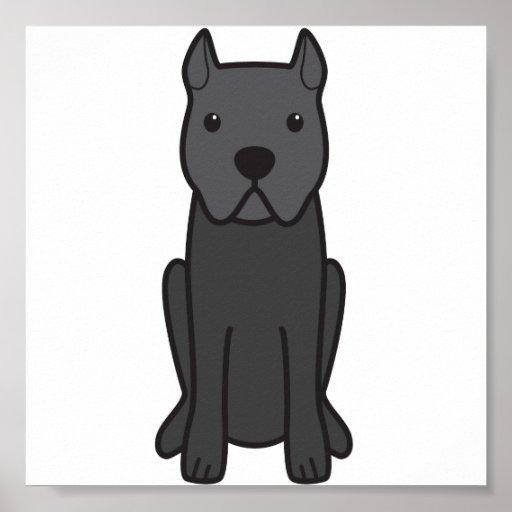 Cane Corso Dog Cartoon Posters