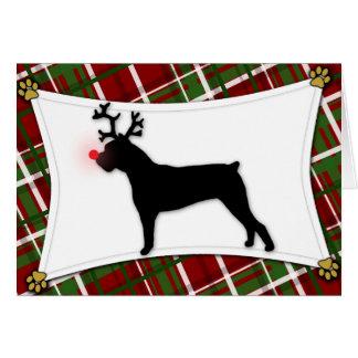 Cane Corso Reindeer Christmas Card