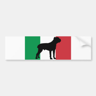 cane corso silhouette flag Italy.png Bumper Sticker