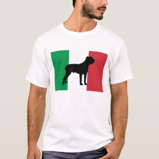 cane corso silhouette flag Italy.png T-Shirt