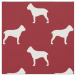Cane Corso Silhouettes Pattern Red Fabric