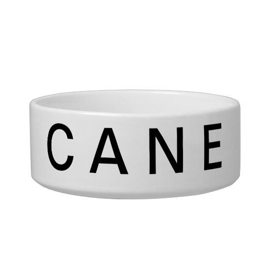 """CANE"" = ""DOG"" IN ""ITALIAN"" PET BOWL"
