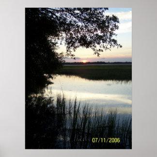 Cane Island Sunset Poster