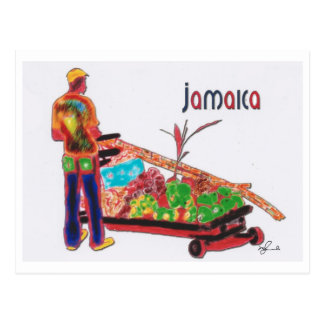Cane Man Jamaica Postcard