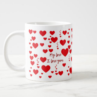 Caneca love large coffee mug