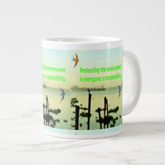 Caneca Protecting the environment is the responsib Large Coffee Mug