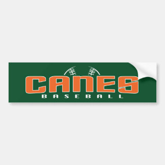Canes Baseball Bumper Sticker