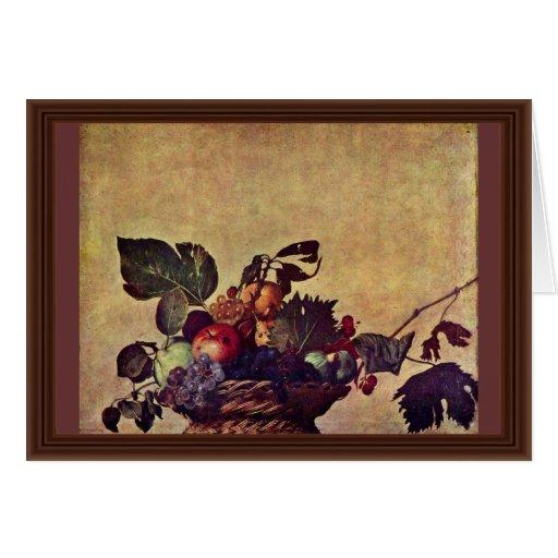 Canestra Di Frutta By Michelangelo Merisi Da Carav Greeting Card