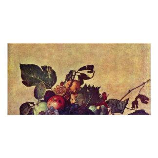 Canestra Di Frutta By Michelangelo Merisi Da Carav Customized Photo Card