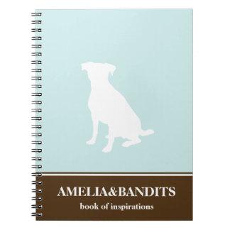 Canine dog pet silhouette blue inspiration journal