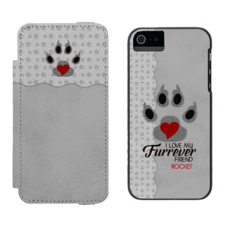 Canine Lover's Monogrammed Paw Print Incipio Watson™ iPhone 5 Wallet Case