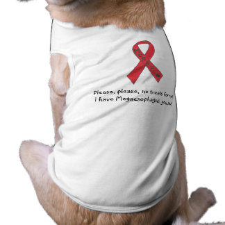 "Canine Megaesophagus Support Ribbon ""No Treats"" Shirt"
