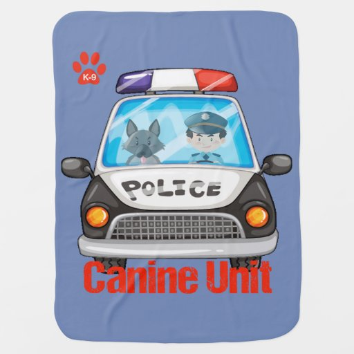 Canine Unit Policeman and Police Dog Baby Blanket