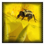Canna Lily with Bumble Bee Personalized Invite