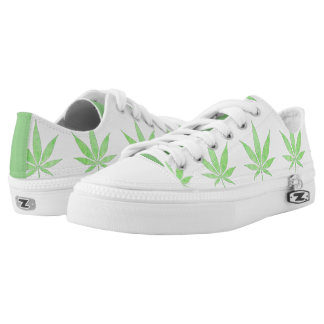 Cannabis Low Top Shoes Printed Shoes