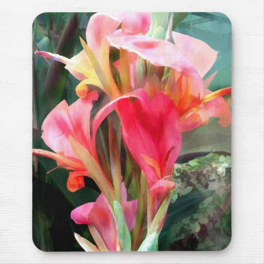 Cannas Pretty in Pink Mouse Mat