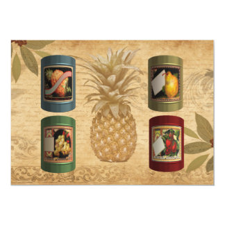 Canned fruit card