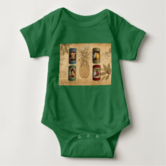 Canned fruit pineapple baby bodysuit