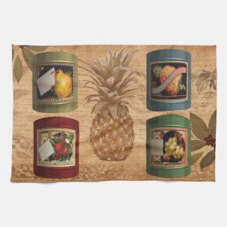 Canned fruit tea towel