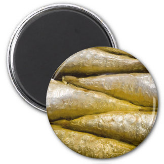 Canned Sardines 6 Cm Round Magnet