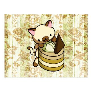 Cannelle Apple Kitty Postcard