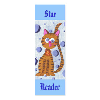 Cannelle cat (Star Reader) mini bookmarks Double-Sided Mini Business Cards (Pack Of 20)