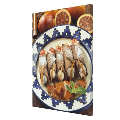 Canneloni di ricotta - Sicily - Italy For use Canvas Print
