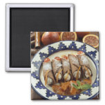 Canneloni di ricotta - Sicily - Italy For use Square Magnet