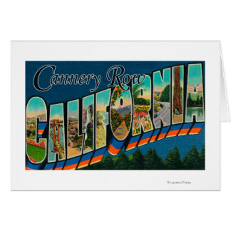 Cannery Row, California - Large Letter Scenes Greeting Card