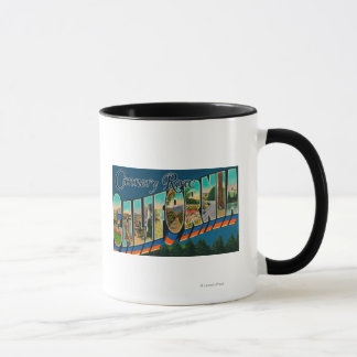 Cannery Row, California - Large Letter Scenes Mug