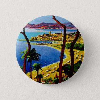 Cannes ~ Cote d'Azur 6 Cm Round Badge