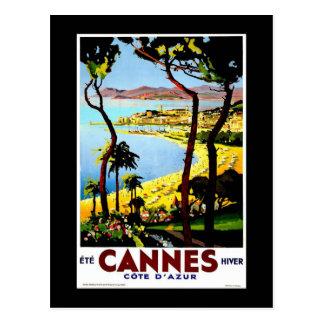 Cannes, France Vintage Travel Postcard