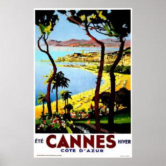 Cannes, France Vintage Travel Poster