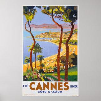 Cannes Vintage Travel Poster