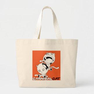 Cannibal Cat Orange Canvas Bag
