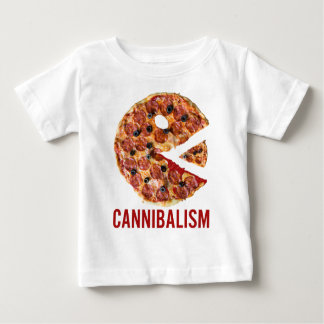 Cannibalism Pizza Eat Funny Food Baby T-Shirt
